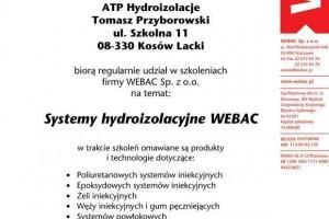 certyfikat ze szkolenia o systemach hydroizolacyjnych